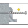 Anclaje tornillo Ø6 directo a hormigón BTS-6 PT Cabeza ancha