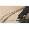 Sujeción doble para cables WDC con clavadora a gas