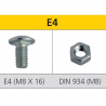 Tornillo métrico para estantería E4