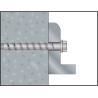Anclaje tornillo Ø5 directo a hormigón BTS-5 B Cabeza hexagonal