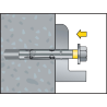 Anclaje antigiro tornillo avellanado Dnbolt DV